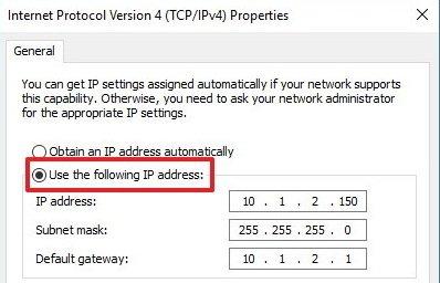 following IP Adress