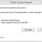 Folder Access Denied Error