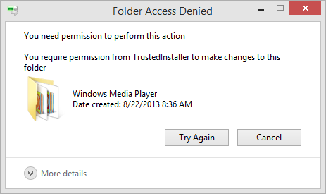Folder Access Denied Error