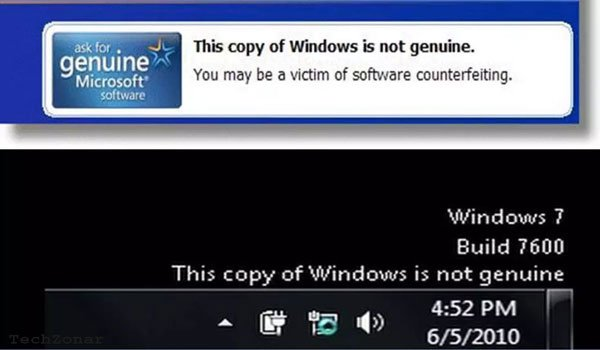 Windows is Not Genuine Error Message