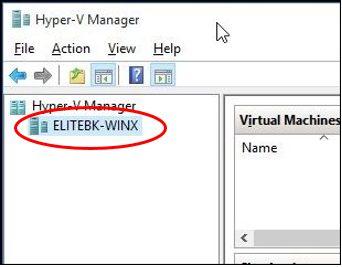 Hyper-V Manager