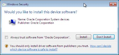 The image shows the Windows Security dialog prompting you to install device software.