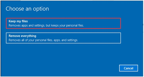 Reinstall Windows 10 without CD/USB