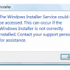 Windows Installer service could not be accessed