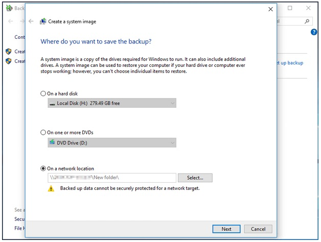 back up windows 10 to usb drive