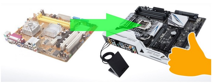 upgrade motherboard without reinstall windows
