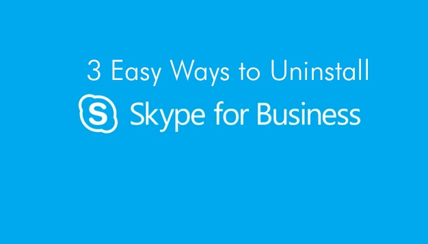 unistall skype for business