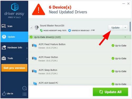 download Creative Sound Blaster Recon3Di driver