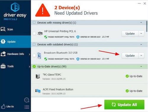 Update Insignia bluetooth adapter driver