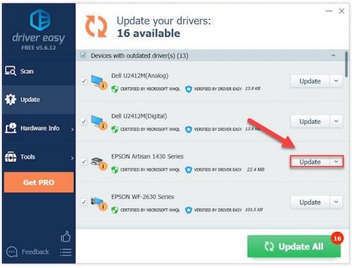 update epson artisan 1430 driver