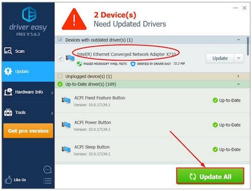 update intel 82579lm driver