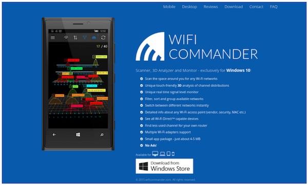 Wifi commander | wifi analyzer for Windows