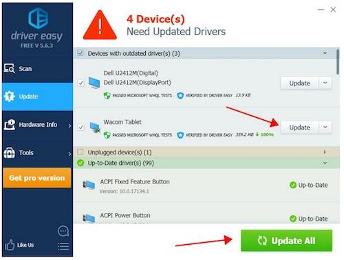 wacom intuos driver update